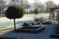 jardin structuré l'hiver